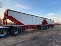 *1993 Load King Super-B hopper bottom aluminum grain trailer Lead VIN#2L9DT283XPA004522, Pup VIN#2L9DT3122PA004523, Owner: Ben G Amendt, Seller: Fraser Auction_____________ *** TOD & SAFETIED***