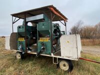 *(2) The Gjesdal 5 in one Rotary Seed Cleaners mounted on 4-wheel wagon