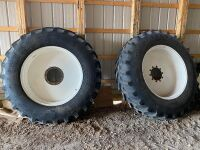 *(2) Good Year 520/85R42 floatation rubber on Apache rims