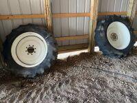 *(2) Firestone 12.4-28 front rubber on Apache rims