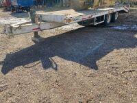 *1980 24' Trail King tandem dualled flat deck trailer, VIN# 1812480 Owner: Robert M McBride, Seller: Fraser Auction________________, ***TOD***