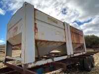 *Shop Built t/a bale trailer