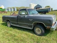 *1989 Dodge Ram 100 Reg cab 4x4, 43,115 showing, VIN# 1B7HM06Y3KS051021, Owner: Lourie R Woodhouse, Seller: Fraser Auction:____________ ***TOD & KEYS***