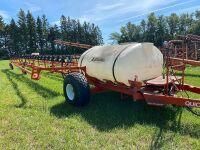 *84' Brandt Quick Fold Field Sprayer w/800-gal poly tank, hyd pump, wind cones, Horvick foam markers, s/n25388