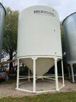 *Bin1: Meridian 16' 3400 Bushel epoxy coated hopper bottom bin (Bins must be removed from sale site July 31st, 2021)