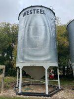 *Bin9: Westeel Bins 3200 bushel on Peloquin hopper cones (Bins must be removed from sale site July 31st, 2021)