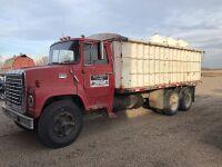 *1975 Ford 750 tag axle grain truck, VIN# N75FVX25833, Owner: Randy J Pawich Seller: Fraser Auction ____________ ***TOD, KEYS***