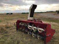 *9' Buhler FarmKing 1080 3pt Dbl auger snow blower