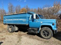 *1984 Chev 60 S/A Grain Truck, VIN# 1GBG6D1B9EV118003, Owner: David Nettle Seller: Fraser Auction ___________***TOD, SAFETIED,KEYS***