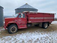 *1986 GMC 7000 DSL Single axel Grain Truck, 118574 kms showing, s/n1GDL7D1G3GV509150, Owner: William R Magwood, Seller: Fraser Auction_____________