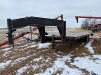 *1995 28' Jamie's Welding 5th wheel T/A flat deck trailer, s/n1J9HH2822S1116024, Seller: Fraser Auction_____________NO TOD. BILL NEVER HAD THIS TRAILER REGISTERED