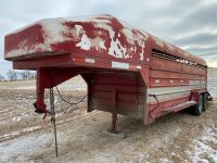 *1985 20' x 6' Sokal T/A 5th wheel stock trailer, S/N none, Owner: William R Magwood, Seller: Fraser Auction____________