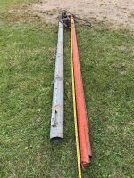 """*Approx 3.5""""X11' red pencil auger w/electric generator"""