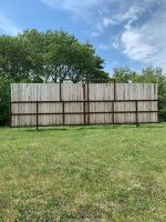 """*29' free-standing windbreak panel made with 3"""" pipe and 8 ft boards"""