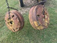 *wheel weights off 4020 JD tractor