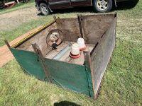 "*51"" square wood box, heat lamp, feeder, 2 waterers"