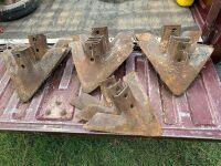 """*Used 14"""" - 15"""" McKay F50-16K bolt-on shovels for IHC Deep Tiller"""